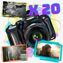 Pack x20 fotos