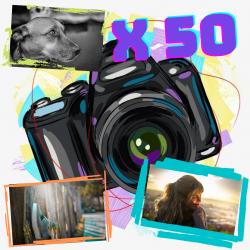 Pack x50 fotos