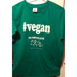Camiseta vegan Salvando...