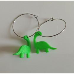 Pendientes dinosaurio 1