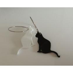 Pendientes gato 1