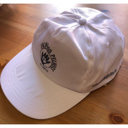 Gorra de tela curva blanca...
